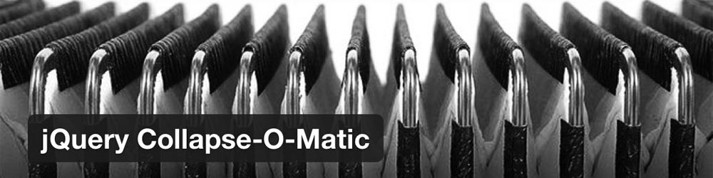 WordPress Plugin: Collapse-O-Matic