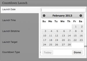 Countdown Launch - Launch Date