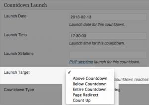 Countdown Launch - Launch Target