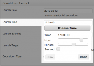 Countdown Launch - Launch Time