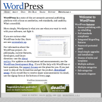 WordPress.org Homepage 2004