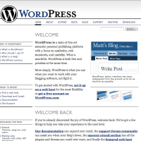 WordPress.org Homepage 2006