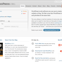 WordPress.org Homepage 2010