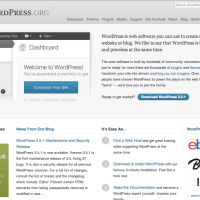 WordPress.org Homepage 2012