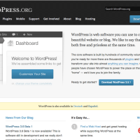 WordPress.org Homepage 2013