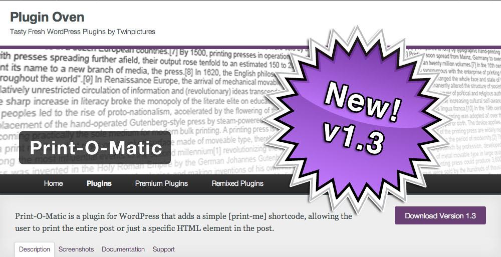 Print-O-Matic v1.3
