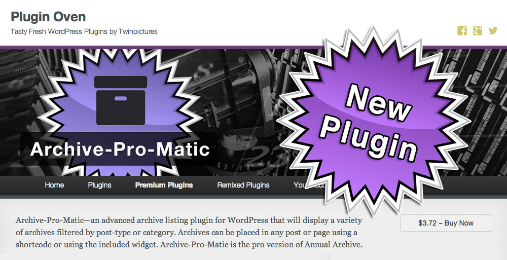 New Premium Plugin: Archive-Pro-Matic