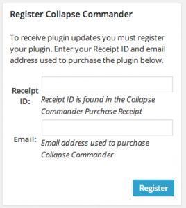Collapse-Commander Registration